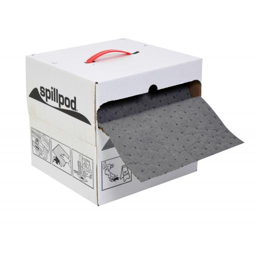 Dispenser Box of Quick-Rip Absorbent Roll