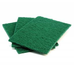Heavy Duty Green Scouring Pads (Pack of 10)