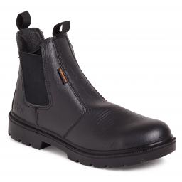 Black Buffalo Grain Leather Dealer Boot