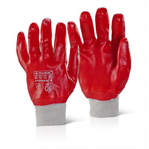Fully Coated PVC Knit Wristed Glove (Per Pair)