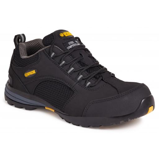APACHE Black Nubuck / Mesh Safety Trainer