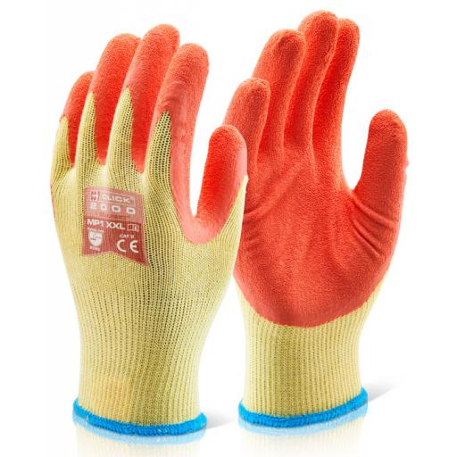 Multi-Purpose Latex Rubber Coated Palm Gloves (Per Pair)