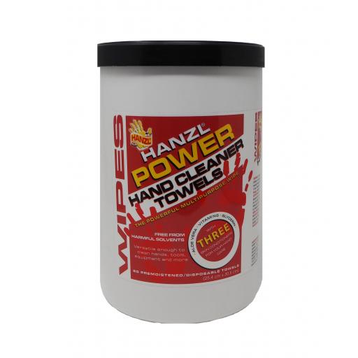 Hanzl Power Hand Cleaner Wipes (Tub of 90)