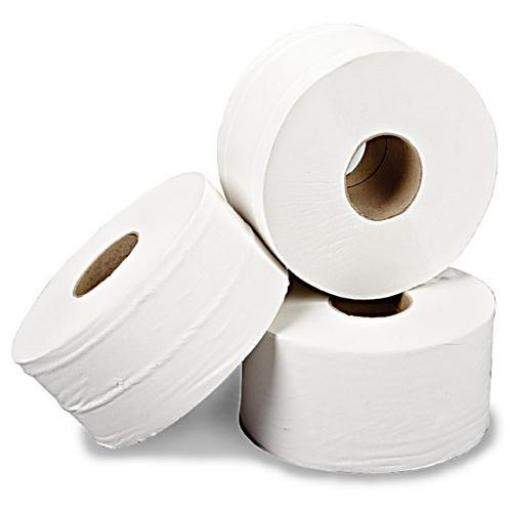 "Mini Jumbo Toilet Rolls, 2 1/4"" Core (Pack of 12)"