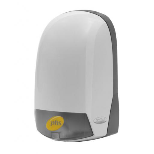 PHS WHITE PLASTIC BULK REFIL SOAP DISPENSER