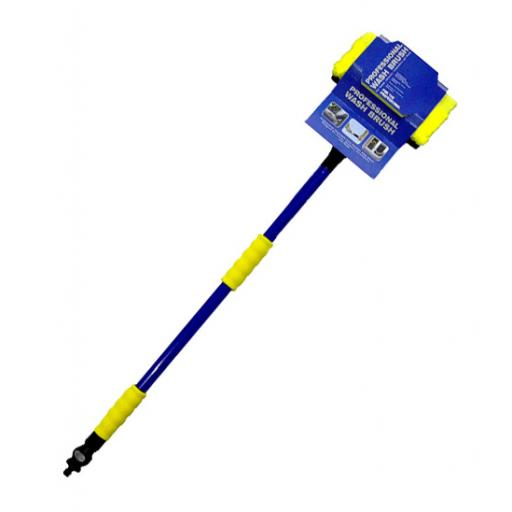 Blue telescopic wash brush complete with head
