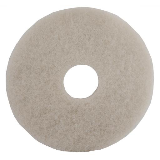 White (Finishing & Polishing) Floor Pads (Pack of 5)
