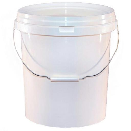 20 LTR White Valeters Pail with lid