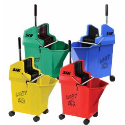SYR Ladybug Mop Bucket & Wringer on Wheels - 9 Litre