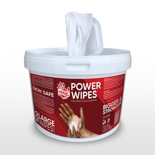 Hanzl Power Hand Cleaner Wipes (Tub of 100)