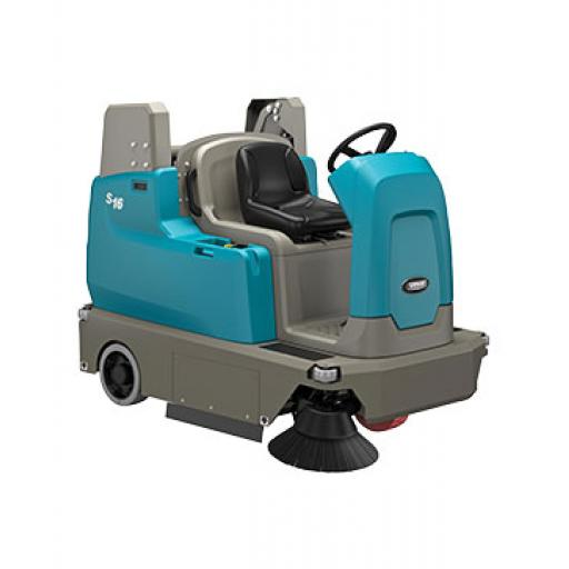 Tennant S16 Battery Powered Compact Ride-On-Sweeper