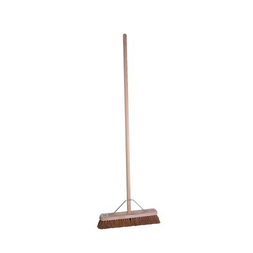 """18"""" Soft Bristle Wooden Broom with handle"""